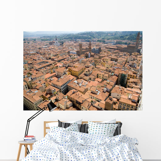 Florence Cityscape From the Top of Tower Wall Mural