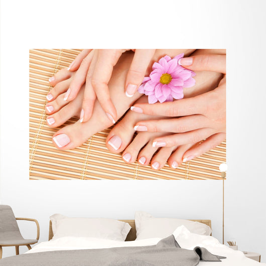 care for beautiful woman legs Wall Mural