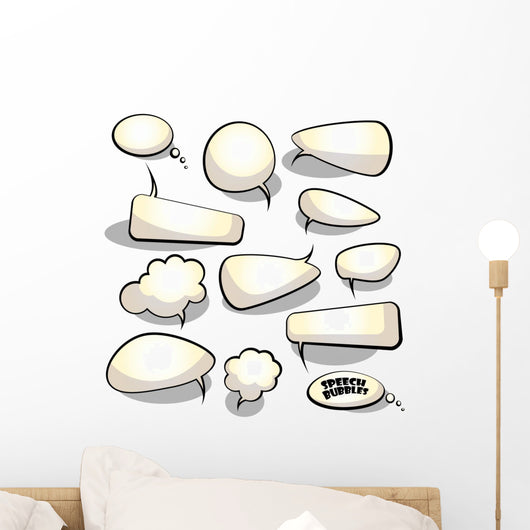 Speech and Thought Bubbles Wall Stickers