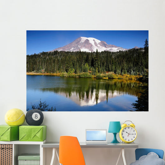Mt Rainier With Reflection Wall Mural