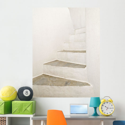 White Stairs Wall Mural