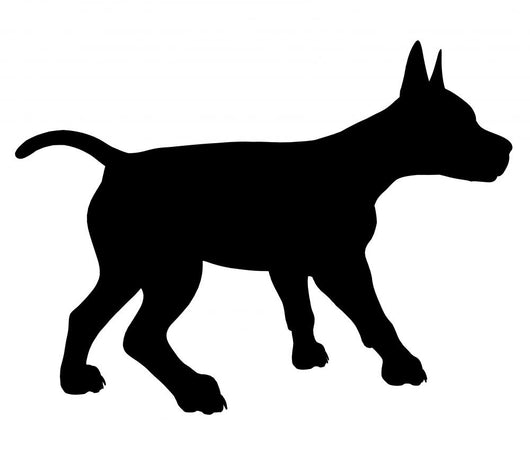Puppy Dog Illustration Silhouette Wall Mural