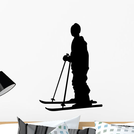 skiing silhouette Wall Decal