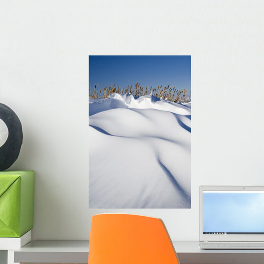 Snow Drifts On A Hill Wall Mural