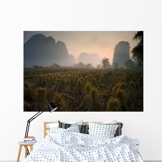 Bundles In Mountain Area Wall Mural