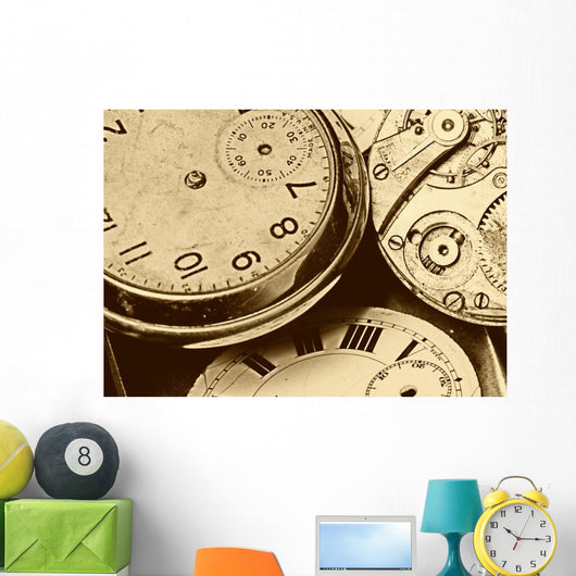 Timepieces Wall Mural