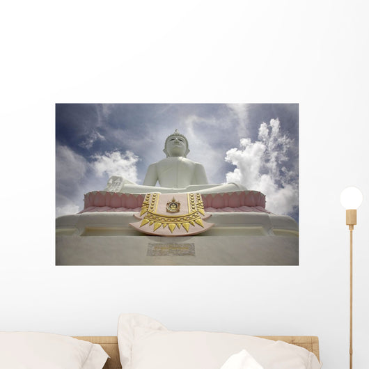 Low Angle View Of Buddha And Temple Wall Mural