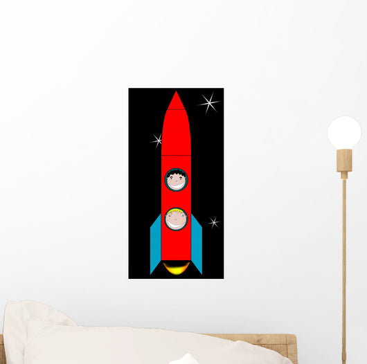 Happy Kids in Space Wall Mural