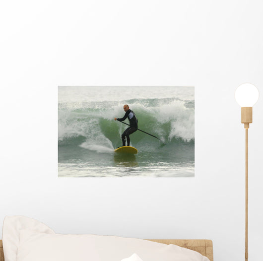 Surfer Catching A Wave Wall Mural