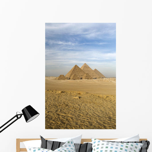 The Pyramids, Giza, Cairo, Egypt Wall Mural