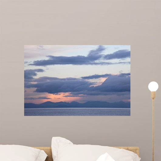 Dusk Over The Cooley Peninsula And Mourne Mountains Wall Mural