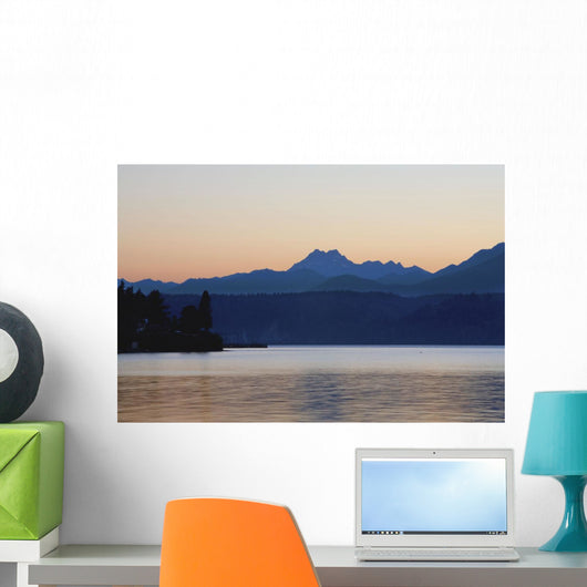 Lake And Mountains Wall Mural