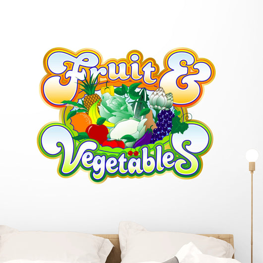 basketball Fruit-Vegetables Wall Decal