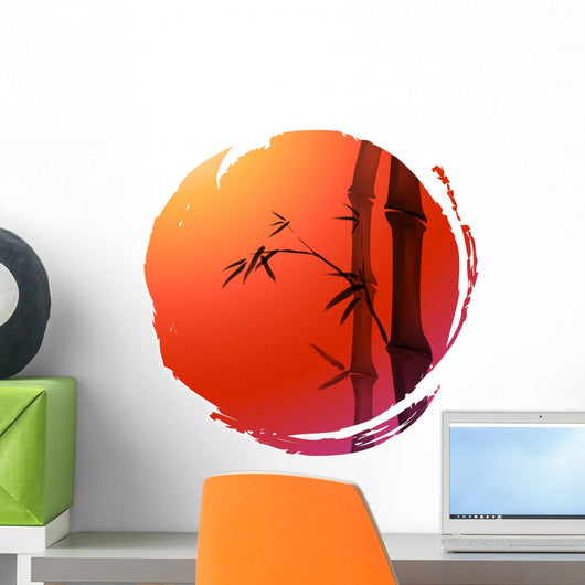 chinese painting of bamboo Wall Decal