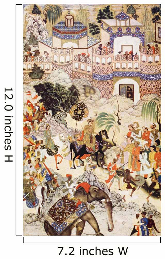 Akbar Khan's Entry Into Surat Wall Mural