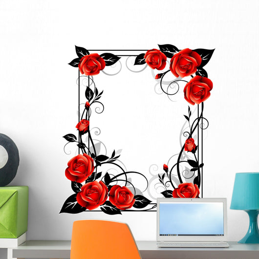 Frame with roses Wall Decal