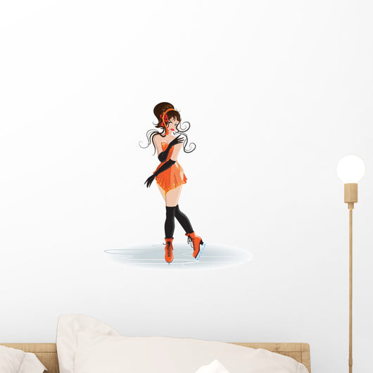 Girl Figure Skater Wall Mural