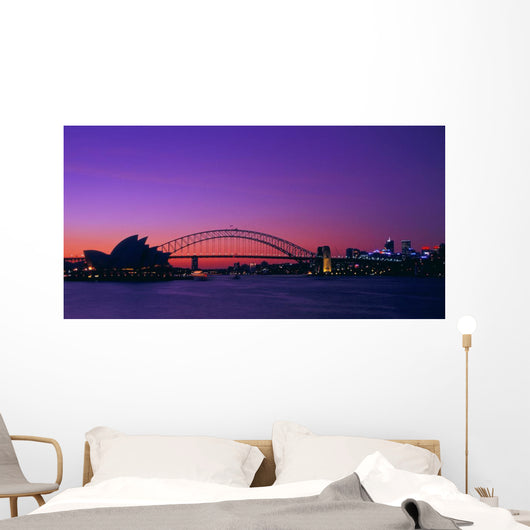 Sydney Opera House Viewed From Across Water Wall Mural