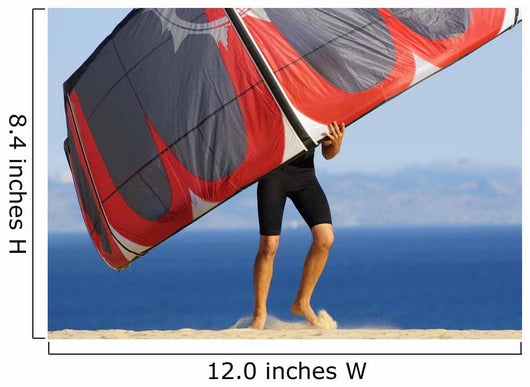 Man Holding Kite For Surfing Wall Mural
