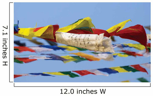 Prayer Flags In The Wind, Nepal Wall Mural