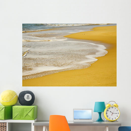 Tide On The Beach Wall Mural