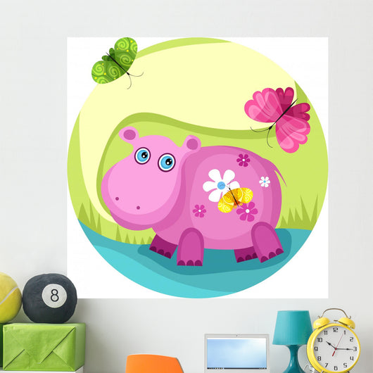 Hippo Wall Decal