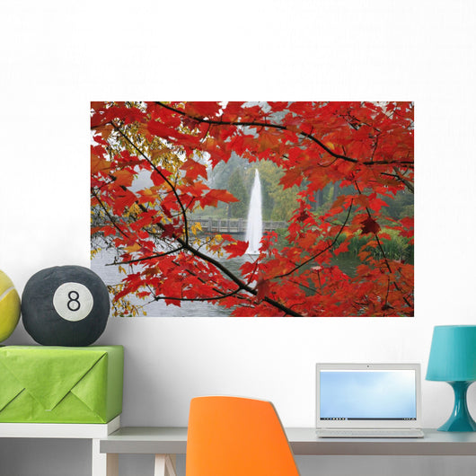 Autumn Leaves Wall Mural