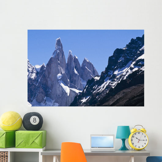 Snow Covered Mountains Wall Mural