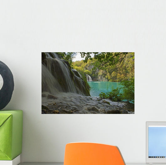 Waterfall At Plitvice National Park In Croatia Wall Mural