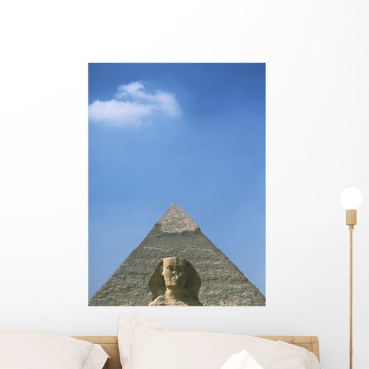 Sphinx In Front Of Pyramid Of Chephren Wall Mural