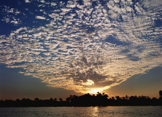 Clouds And Sky At Sunset Over The Nile River Wall Mural