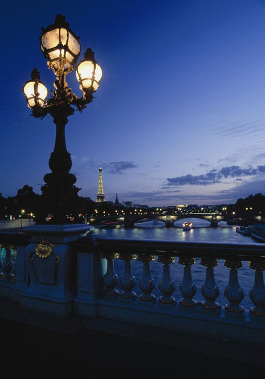 Looking From The Pont Alexandre Iii Down The Seine To The Eiffel Tower Wall Mural