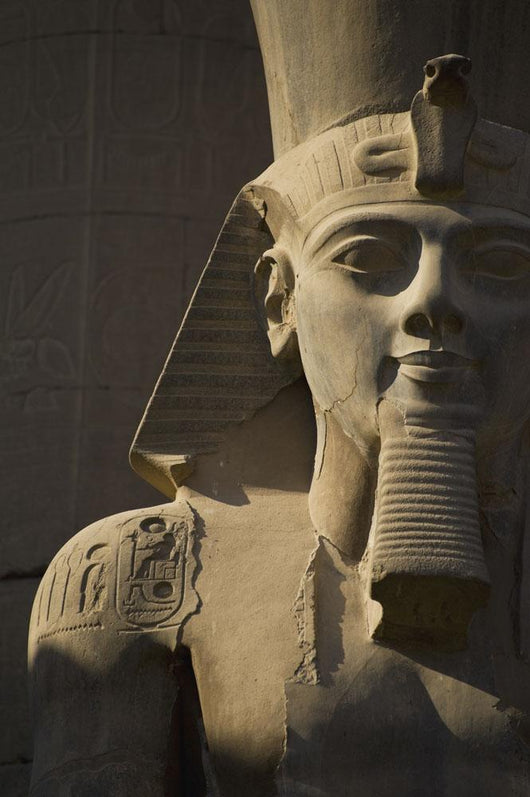 Detail Of Head Of Pharaoh Statue Wall Mural