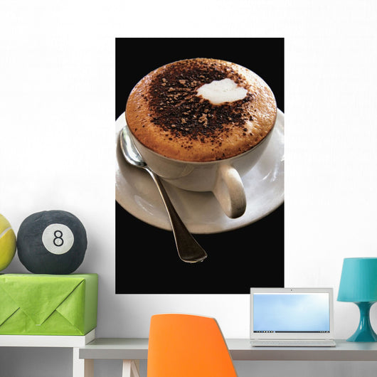 Cappuccino With Cocoa Powder Wall Mural
