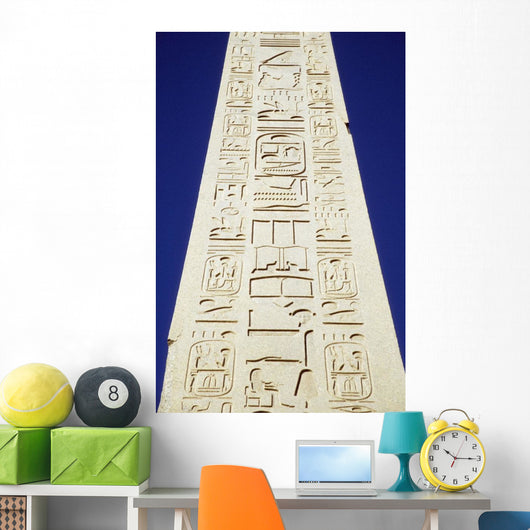 Obelisk Of Tuthmosis Iii And Blue Sky, Close Up Wall Mural
