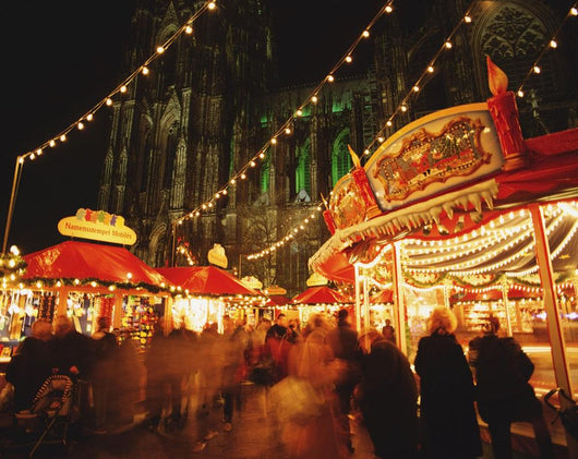 Cologne Cathedral And Christmas Market Wall Mural