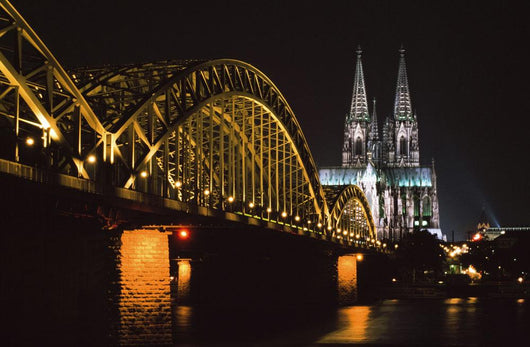 North Rhine, Westphalia, Dom And Hohenzollem Brucke Wall Mural