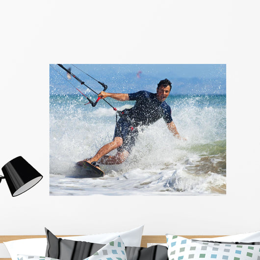Kite Surfing In Front Of Hotel Dos Mares Wall Mural