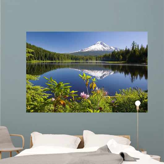 Reflection Of Mount Hood In Trillium Lake In The Oregon Cascades Wall Mural