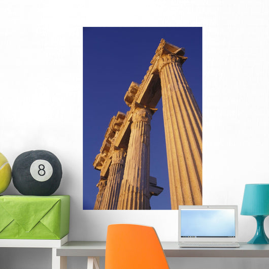 Classical Column, Low Angle View Wall Mural