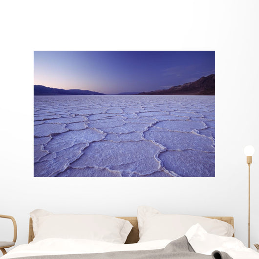 Looking Across The Purple Saltpans At Badwater At Dusk Wall Mural