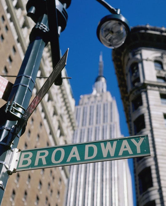 Broadway Sign And Empire State Building Wall Mural