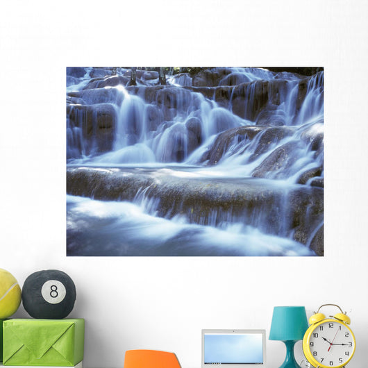 Water And Rock At Dunns River Falls, Close Up Wall Mural