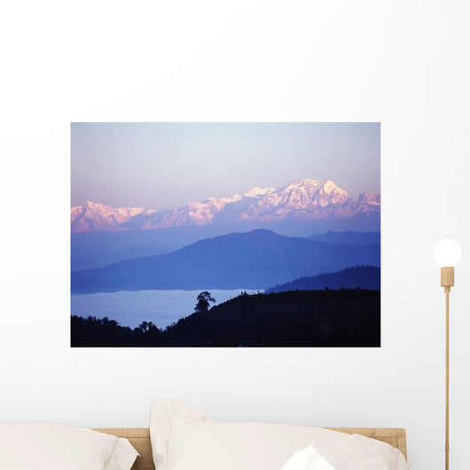 View Of The Himalayas In Gorkha Region Wall Mural