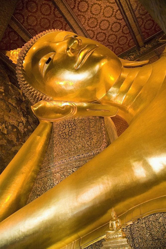 Reclining Buddha At Wat Pho, Low Angle View Wall Mural