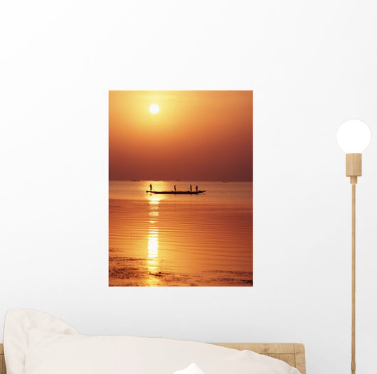 Lake Chilka At Sunrise Wall Mural