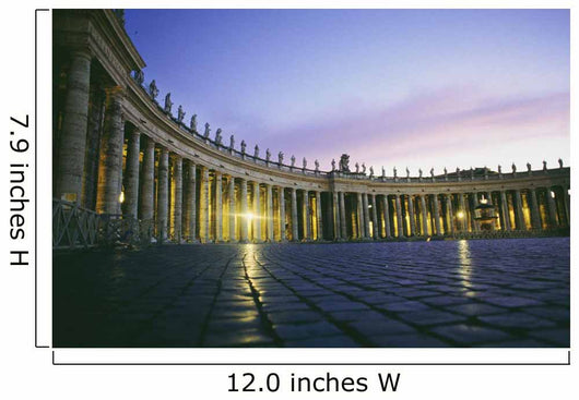 Nightfall At The Square At St Peters In The Vatican Wall Mural