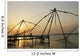Chinese Fishing Nets Hanging In The Water At Sunset, Fort Kochi Wall Mural