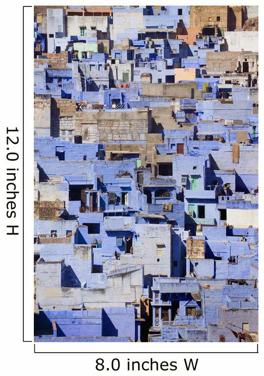 Blue Buildings Of Jodhpur, Aerial View Wall Mural