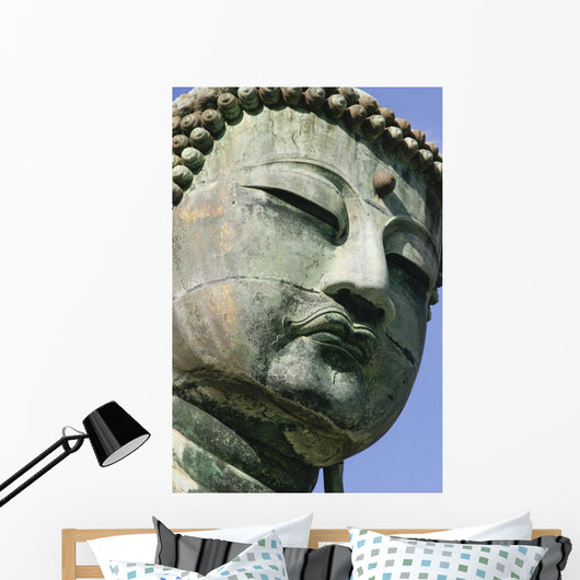 Face Of The Daibutsu Or Great Buddha, Close Up Wall Mural
